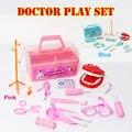 15 pçs/set caixa médico crianças pretend play toys set role play brinquedos educacionais do bebê caixa de medicina clínica odontológica classic toys plástico caixa