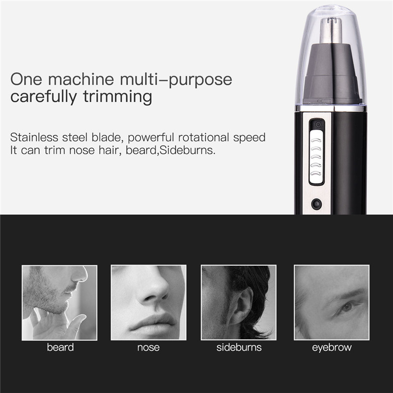 4 in 1 Electric Nose Ear Hair Trimmer Rechargeable Beard Eyebrow Trimmer Electric Nose Ear Shaver Hair Cliper in Nose Ear Trimmer from Beauty Health