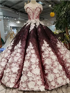Ball-Gown Prom-Dresses Flowers Off-The-Shoulder Lace-Up Sweetheart Back Swollen Floor-Length