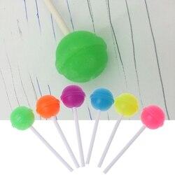 6 Stks Creative Zoete Snoep Lolipop Eraser Cleaner Voor Kids Gift Schoolbenodigdheden