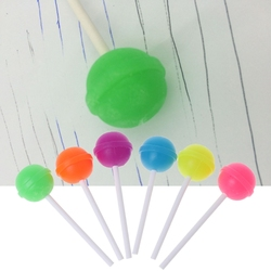 6Pcs Creative Sweet Candy Lolipop Eraser Cleaner For Kids Gift School Supplies