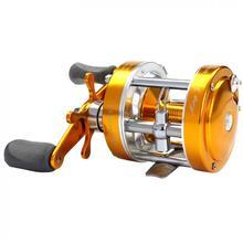 цена на Full Metal Drum Fishing Reel Centrifugal Mechanical Dual Braking System 2+1BB 40# 5.2:1 Trolling Casting Boat Wheel