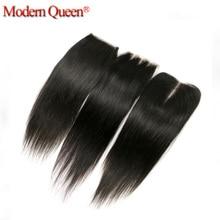 Best 8A Straight Hair Lace Closure 8 to 20 inches Brazilian Virgin Hair Straight Closure 4″X4″ Bleached Knots Human Hair Closure