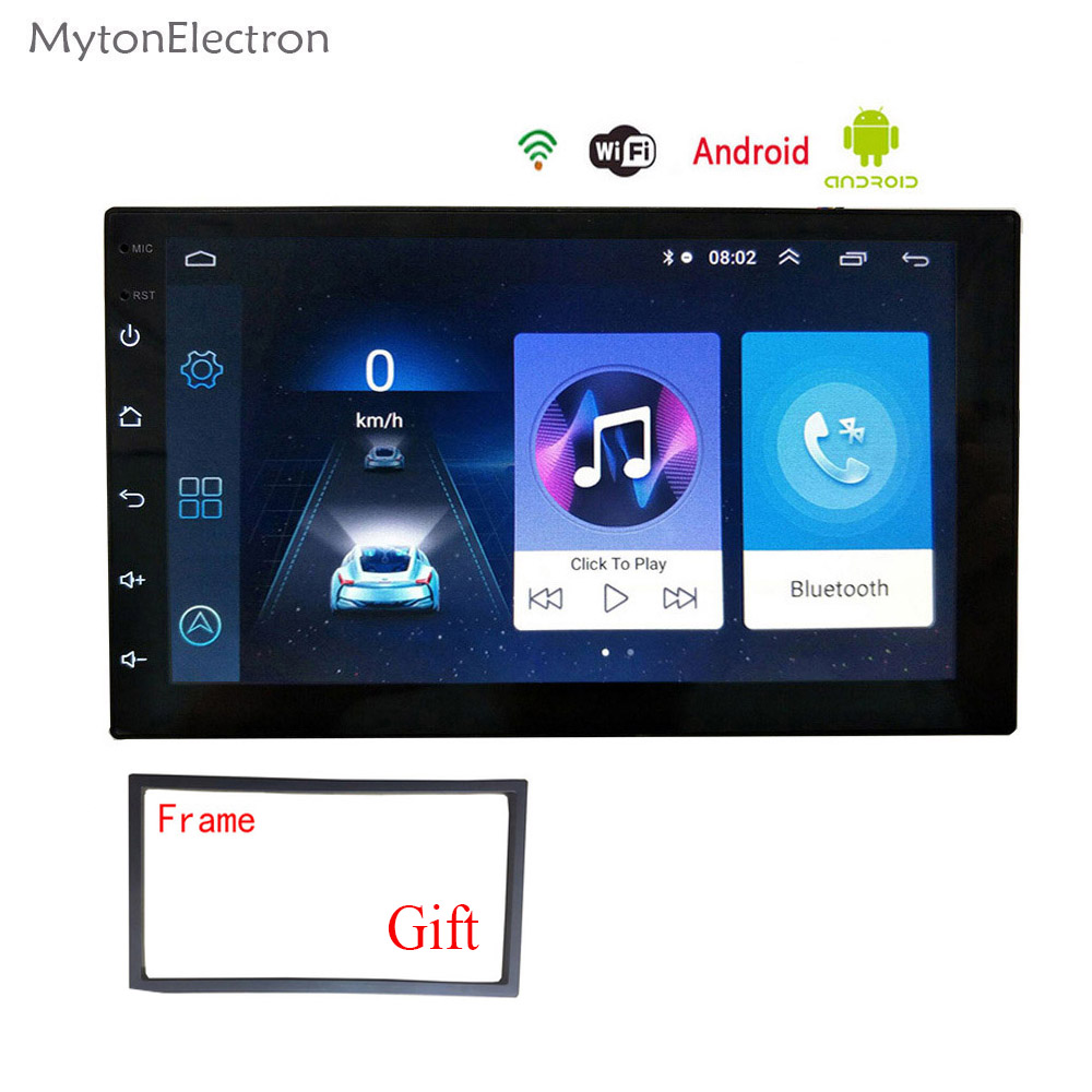 2 Din Android Radio Bluetooth GPS Navigation WIFI Stereo Video 7 Inch 1024*600 Tap PC Table Universal In Car Multimedia Player