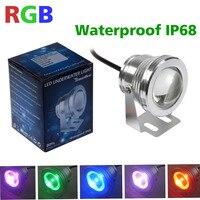 5 pçs/lote DC 12 v led rgb luz subaquática à prova d' água 10 w IP68 piscina fonte aquário do tanque de peixes da lagoa lâmpada À Prova D' Água