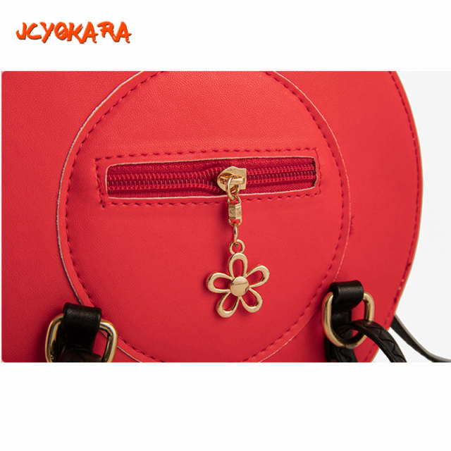 JCYOKARA Baby Girls Hat Shap Messenger Bag JC KIDS PU Handmade Cap Bag  Children Cute Round