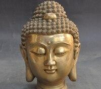 Tybet Buddyzm Fane Joss Mosiądz Budda Siakjamuni Tathagata Siakjamuni Posąg Głowy w Posągi i rzeźby od Dom i ogród na