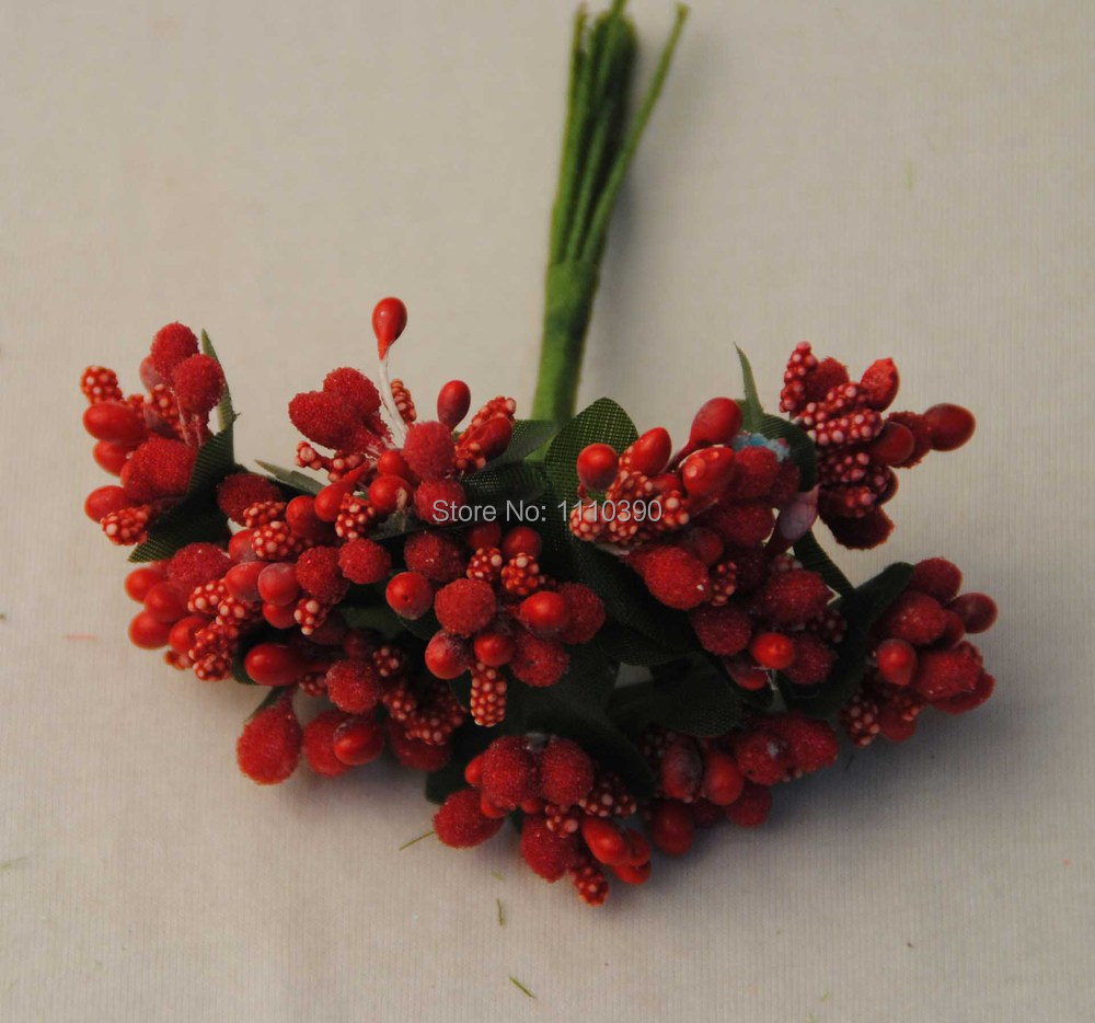 2cm Artificial Fruit Flowers Bouquets Stamenfake Fruit Pip Berries