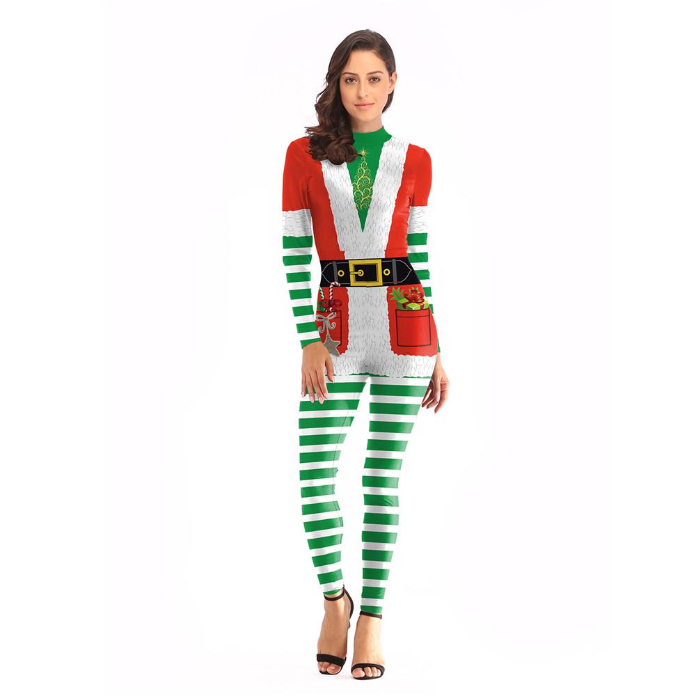 New style Christmas Santa Claus cosplay Costume Xmas  For Adult Women jumpsuits