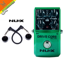 NUX Drive Core Deluxe Upgrade overdrive guitar effect pedal high gain with clean&drive booster Stable performance free shipping nux metal core deluxe extreme metal distortion guitar effects pedal upgraded mode high gain 2 models