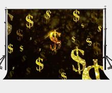 150x220cm Amazing Dollars Rain Backdrop Shiny Gold Dollars Photography Background 28 9 dollars shopping voucher