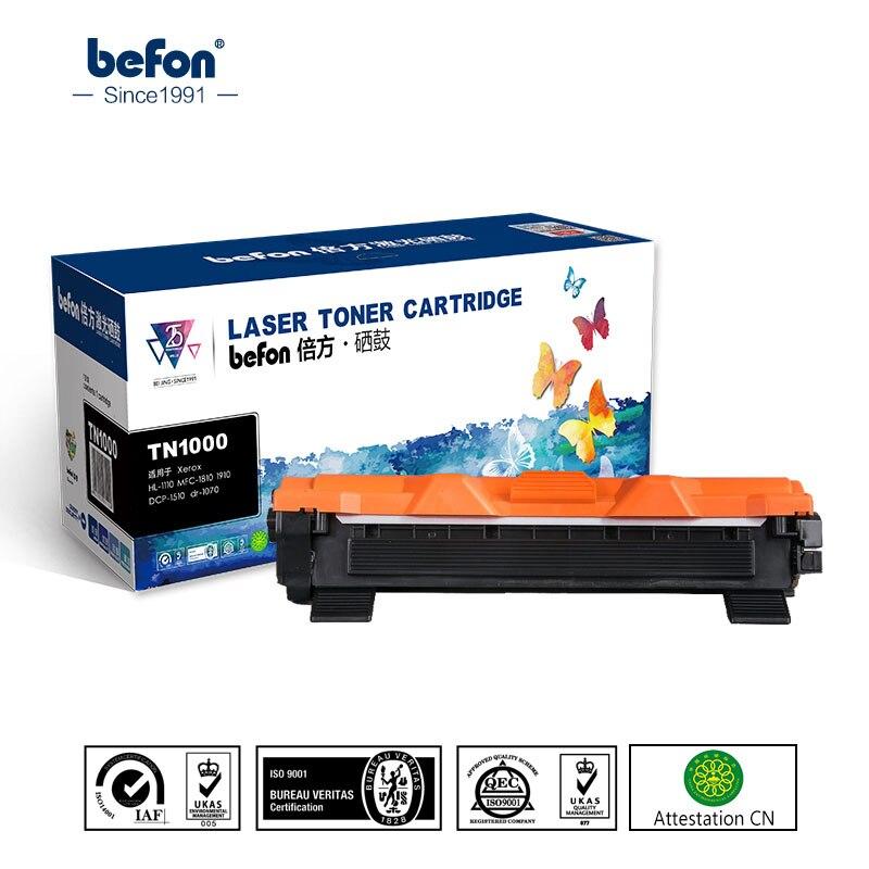 Befon Cartouche De Toner Compatible pour Brother TN1000 TN1030 TN1050 TN1060 TN1070 TN1075 TN1095 HL1110 TN 1000 1030 1075