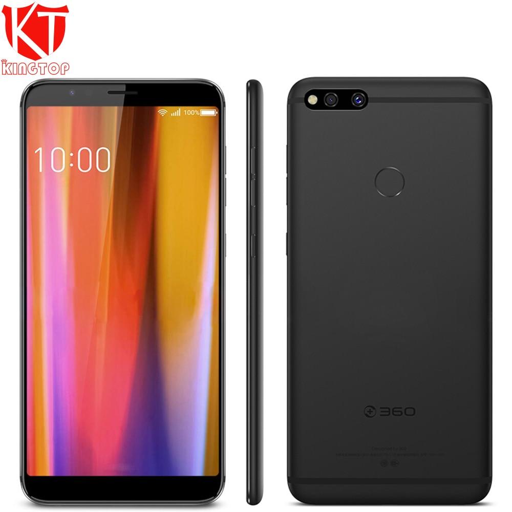 D'origine 360 N7 Mobile Téléphone 5.99 4 gb 32 gb Snapadragon 660 Octa Core Double Caméra Arrière 16 + 2.0 mp D'empreintes Digitales Android 8.1 5030 mah