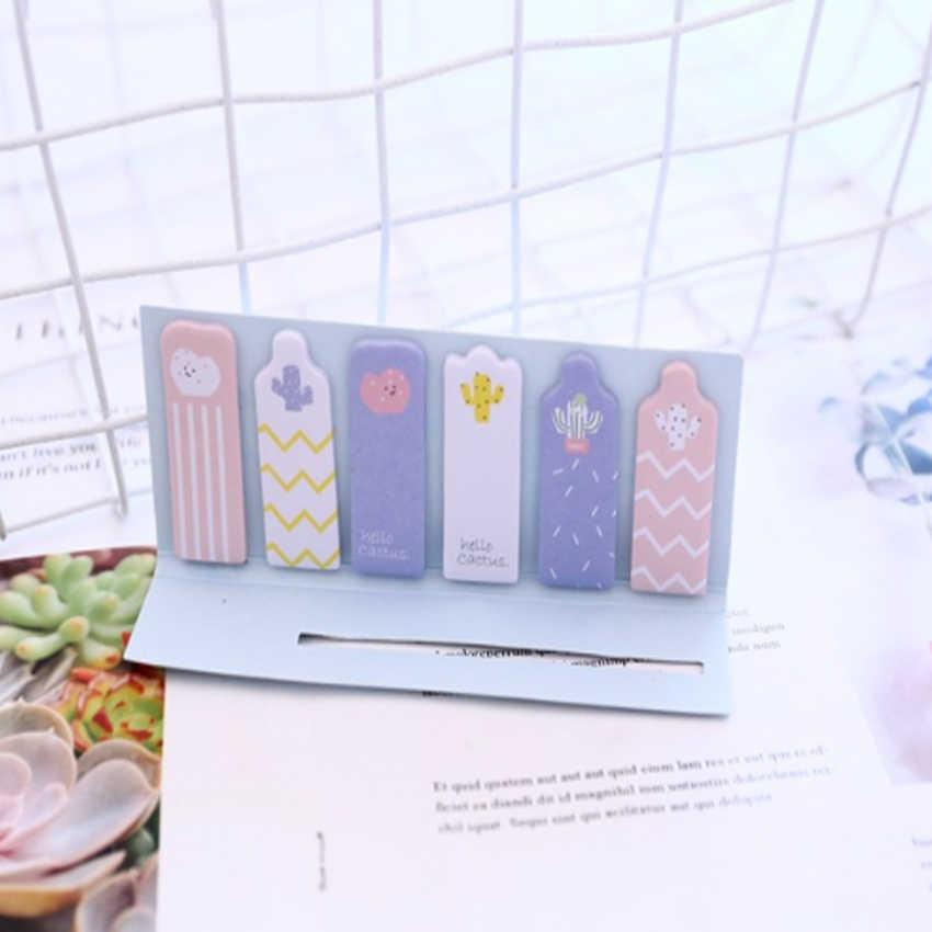 1 упак./лот каваи мини Памятка карамельного цвета кактус показывает специальную форму Липкие заметки стикеры DIY Украшение дневника подарок