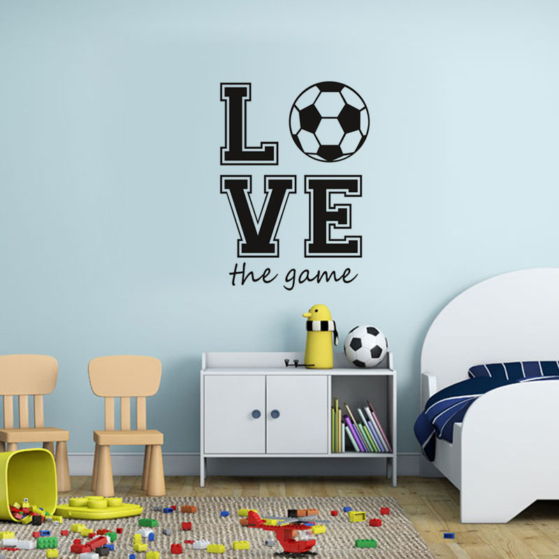 Voetbal Fans Sport Game Muursticker Creatieve Muur Art Voetbal Behang Mural Sport Muurstickers Slaapkamer Decor Home Decoration