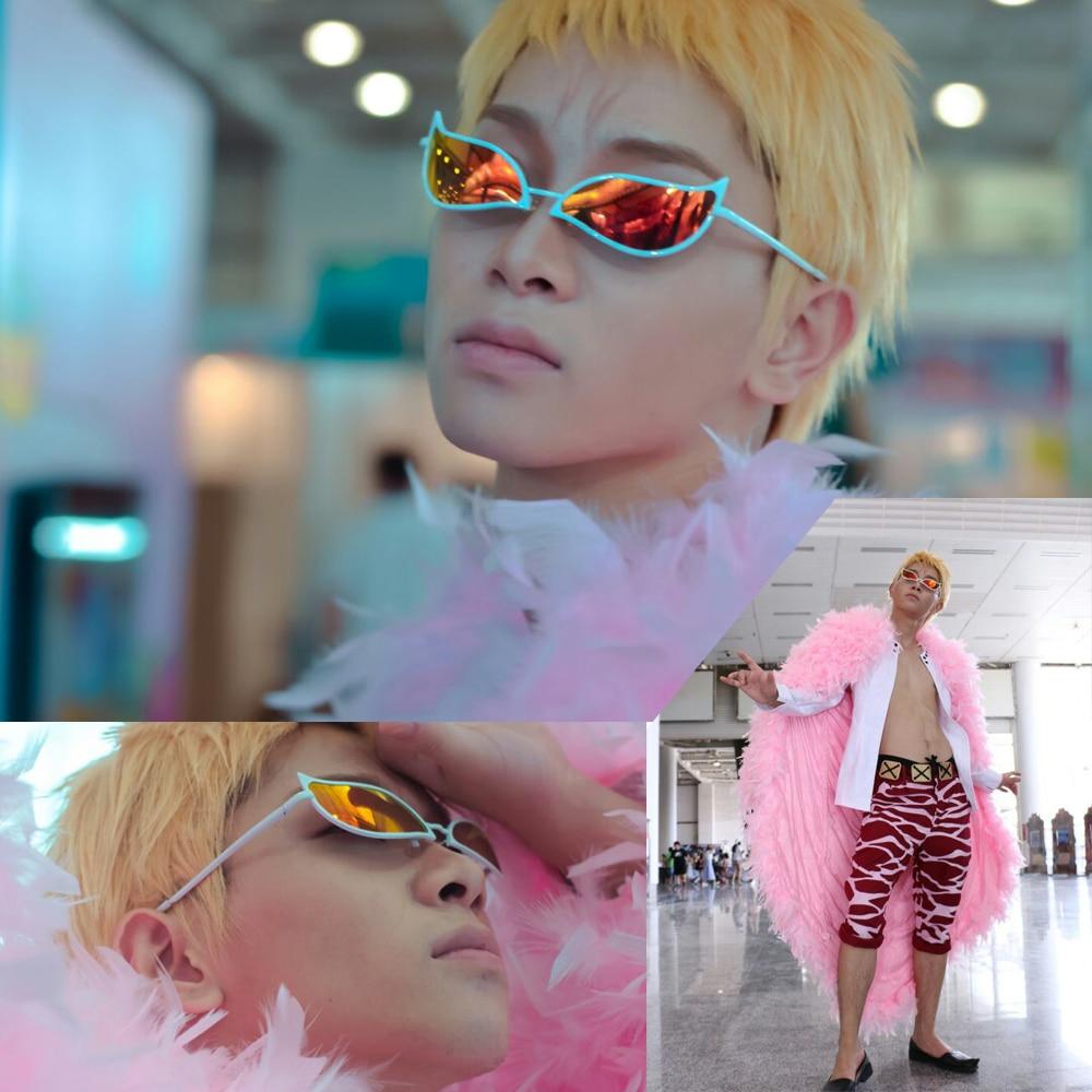 One piece Joker Donquixote Doflamingo cosplay halloween men costume sunglasses glasses