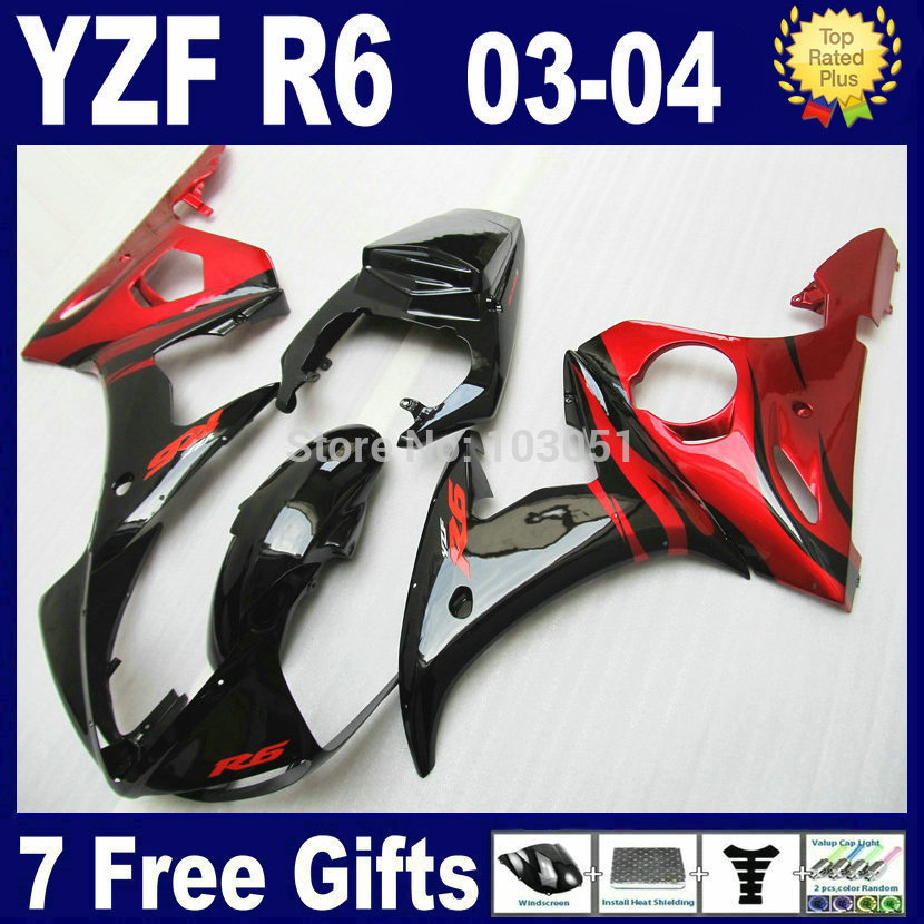 ABS Plastic OEM motorcycle fairings kit For Yamaha YZF R6 2003 2004 2005 R YZF R6 03 04 05 plastics YZ 600 aftermarket fairing k motorcycle front light headlight head lamp for yamaha yzf r6 yzfr6 yzf r6 2003 2004 2005 03 04 05