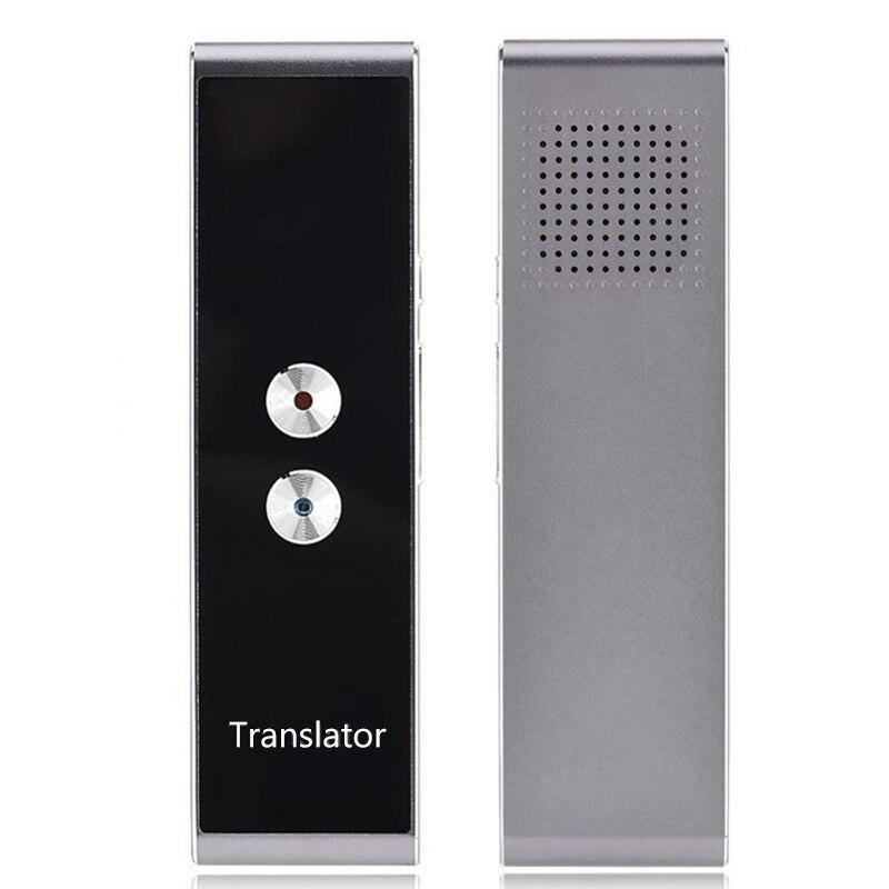 Smart Портативный голос и текст переводчик двусторонней Multi-Язык реального времени перевод обучения туризма путешествия Бизнес встречи