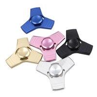 5 Colors EDC Fidget Spinner UFO Tri Spinner Zinc Hand Spinner Aluminum Alloy Fidget Toy Anxiety