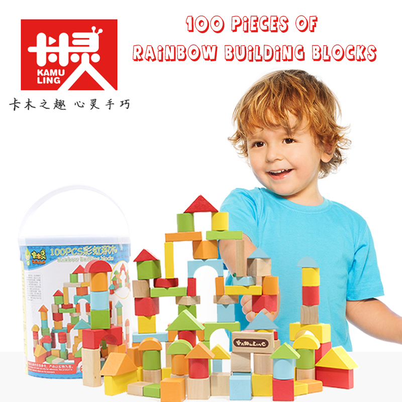 Children Intelligence Educational Balancing Blocks Colorful Wooden Building Blocks Toys Wooden Toys Geometric Assemblin DIY Toy wooden toys tree marble ball run track game for baby montessori blocks intelligence educational model building wood toy