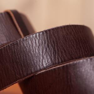 Image 3 - VAMOS KATOAL men belt cow genuine leather luxury strap male belts for men classic vintage pin buckle cowskin belt dropshipping