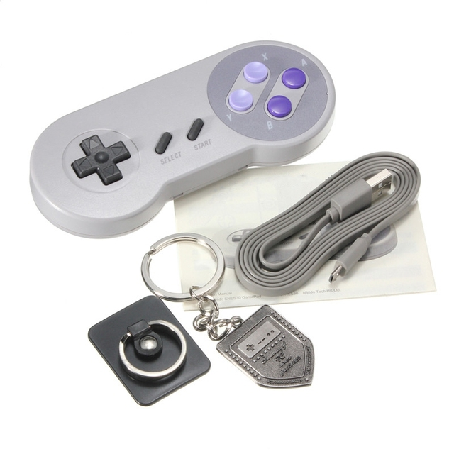 Retro Style Pro edition Bluetooth Wireless Controller Gamepad Joystick With Anniversary Key Chain for Android for Windows