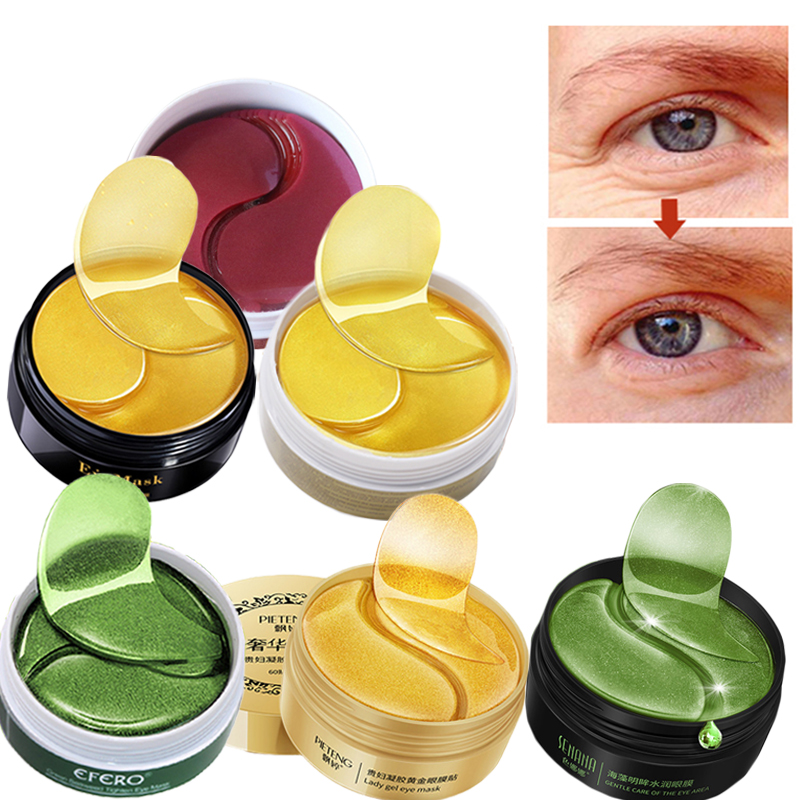 Eye-Mask Remove-Collagen Eyes-Care Crystal Moisturizing Anti-Wrinkle 60pcs-Dark-Circles