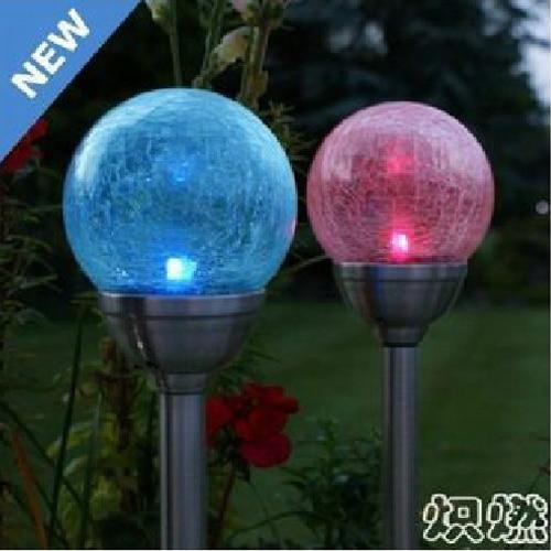 Superb Solar Lights Crack Round Ball Garden Light Lawn Lamp Led Outdoor Light  Stainless Steel Lantern Garden