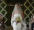 Hips length wedding bridal veil flower 1 Tier