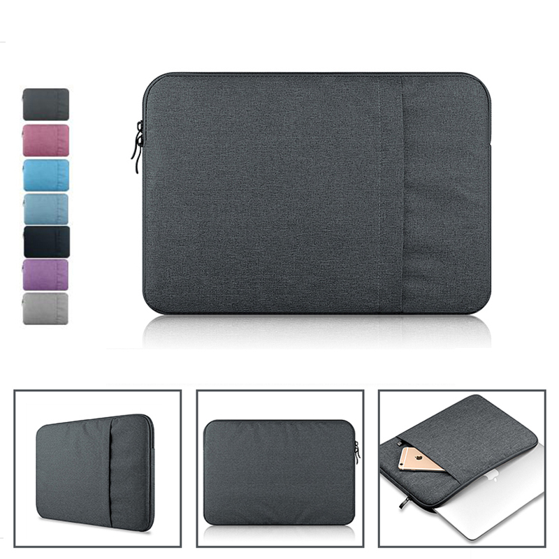 Nylon Laptop Bag Sleeve Pouch for Macbook Air 11 13 Pro 13 15 Retina 13 15 Unisex Liner Sleeve Notebook Case for Macbook Air 13 soft sleeve laptop bag case for macbook air pro retina 13 11 15 14 for mac pouch cover for notebook phone mouse adapter cable