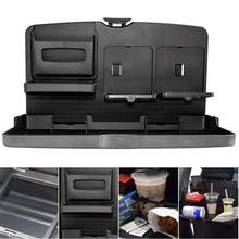 Universal Folding Car Table Multifunctional Auto Car Cup Holder Seat Back Food Car Tray Water Cup Phone Mount Car Pallet Shelf(China)