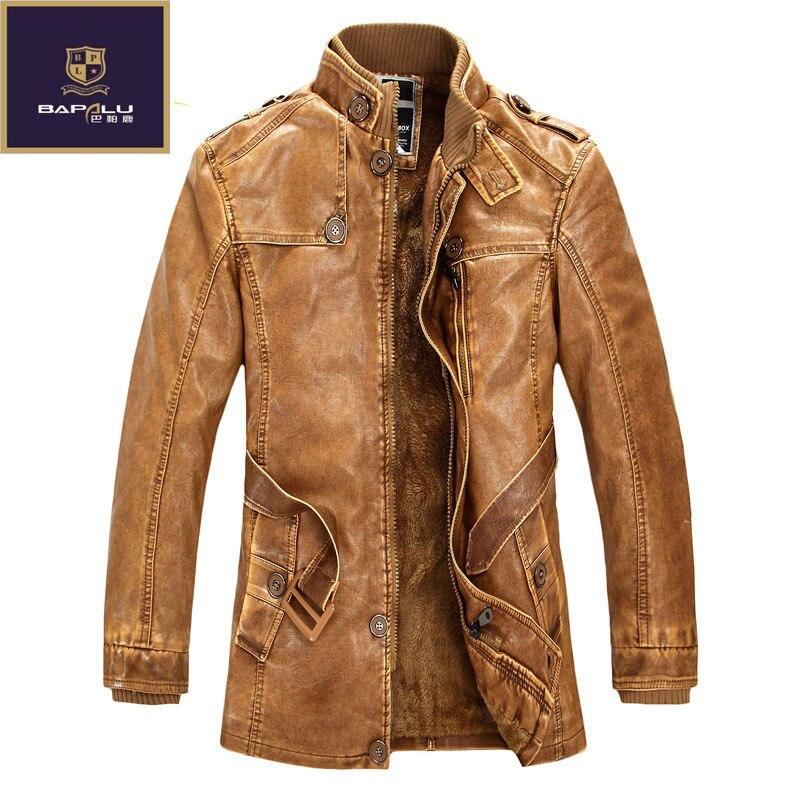 03f9a1b05f153 Automne Hiver nouvelle laine manteau long col de fourrure de veste en cuir  hommes veste en cuir de manteau hommes Hommes Loisirs veste manteau