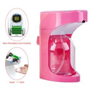 Image 4 - 500 ml סבון קצף עבור נוזל סבון קיר רכוב Dispenser חכם חיישן Touchless אמבטיה מטבח מכשירי
