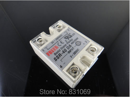 цена на 3Pieces/Lot  Solid State Relay SSR-40DA 40A /250V 3-32VDC/24-380VAC Brand New