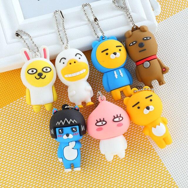 Multicolor Bonito Chaveiro Animais Bonecas Chaveiro Bugigangas Pingente Lindo Presente para crianças Jóias Acessórios 1 pcs
