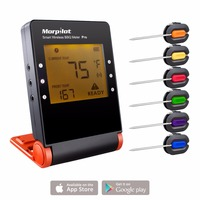 Morpilot Smart Bluetooth Wireless BBQ Thermometer Remote Digital Kitchen Cooking Food Meat Thermometer 6 Channel 2