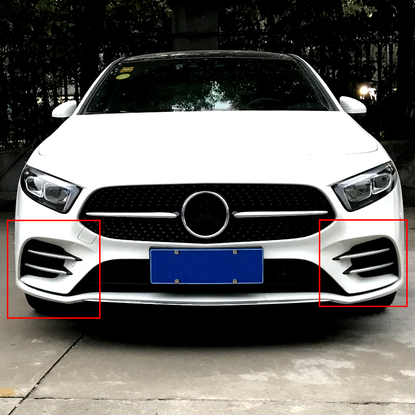 ABS Frosted red Car Front Lamp Decoration Strip Trim For A Class A180 A200 W177 2019