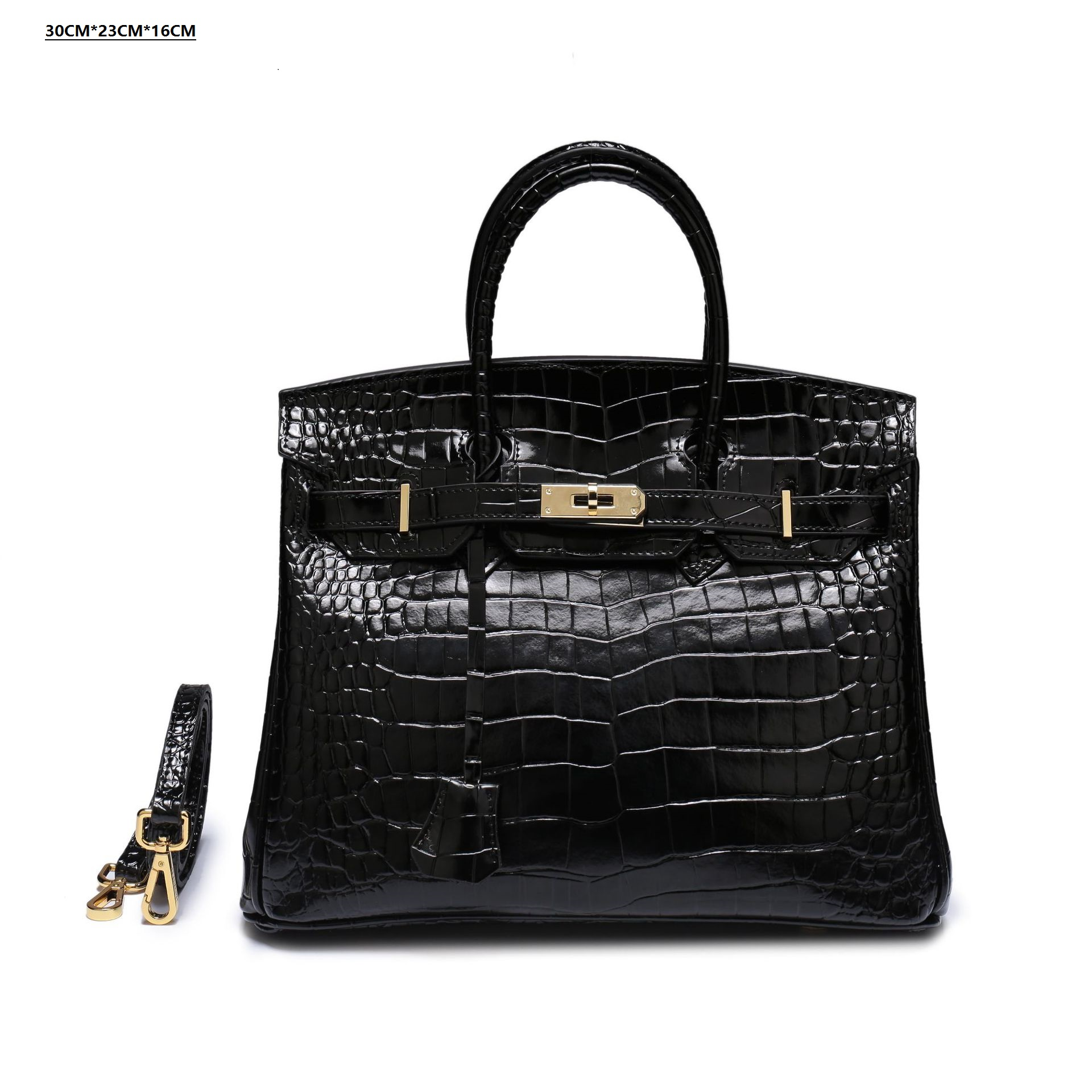 Best-selling new high-quality platinum bag fashion single-shoulder diagonal lady bag crocodile pattern leather Lady Bag HandbagBest-selling new high-quality platinum bag fashion single-shoulder diagonal lady bag crocodile pattern leather Lady Bag Handbag