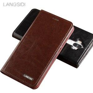 Image 2 - Wangcangli Samsung c9pro telefon kılıfı Yağ balmumu cilt cüzdan çevir Standı Tutucu Kart Yuvaları deri kılıf göndermek için telefon cam filmi