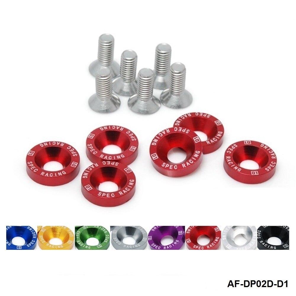 10 pcs Red Billet Fender//Bumper Washer Bolt Dress Up Kit For Acura Integra DC2