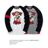 Tee7 Cartoon Fashion full cotton long sleeve Tshirt For Lovers Men's Women's Brand Sweatshirt Valentine's Day Gift