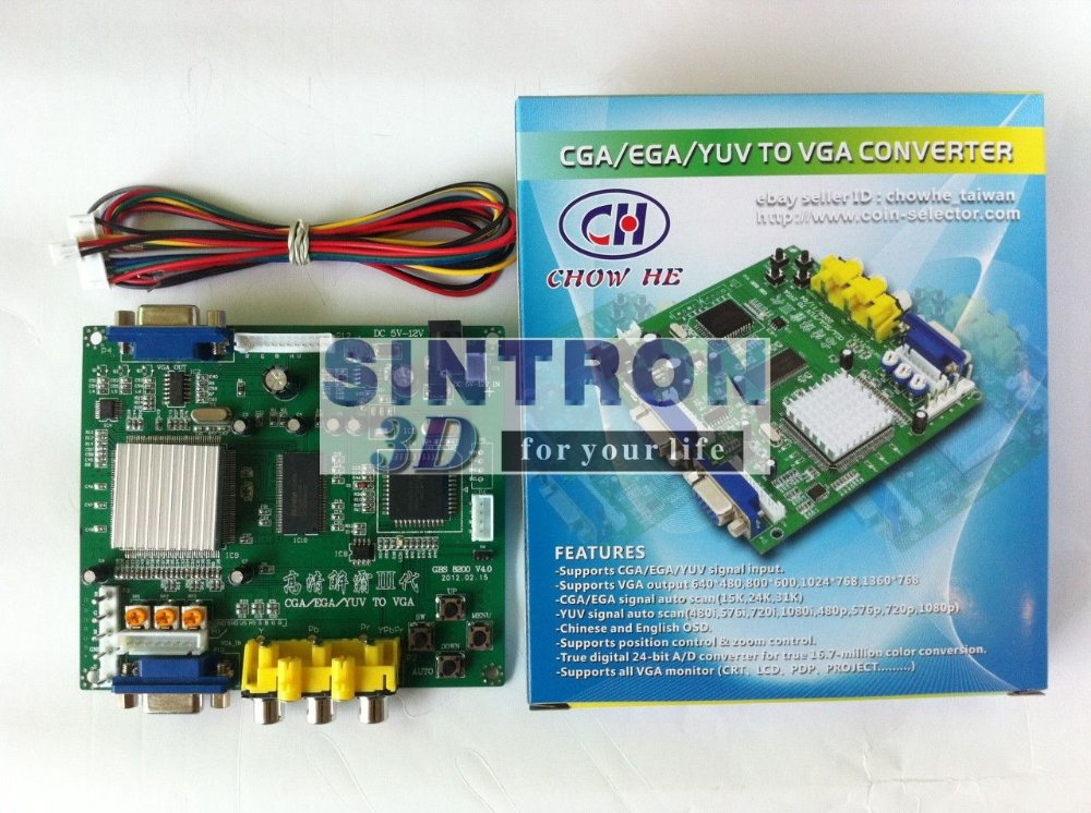 все цены на GBS-8200 Video Converter CGA/EGA/YUV/RGB TO VGA Arcade Jamma Game Monitor to LCD онлайн