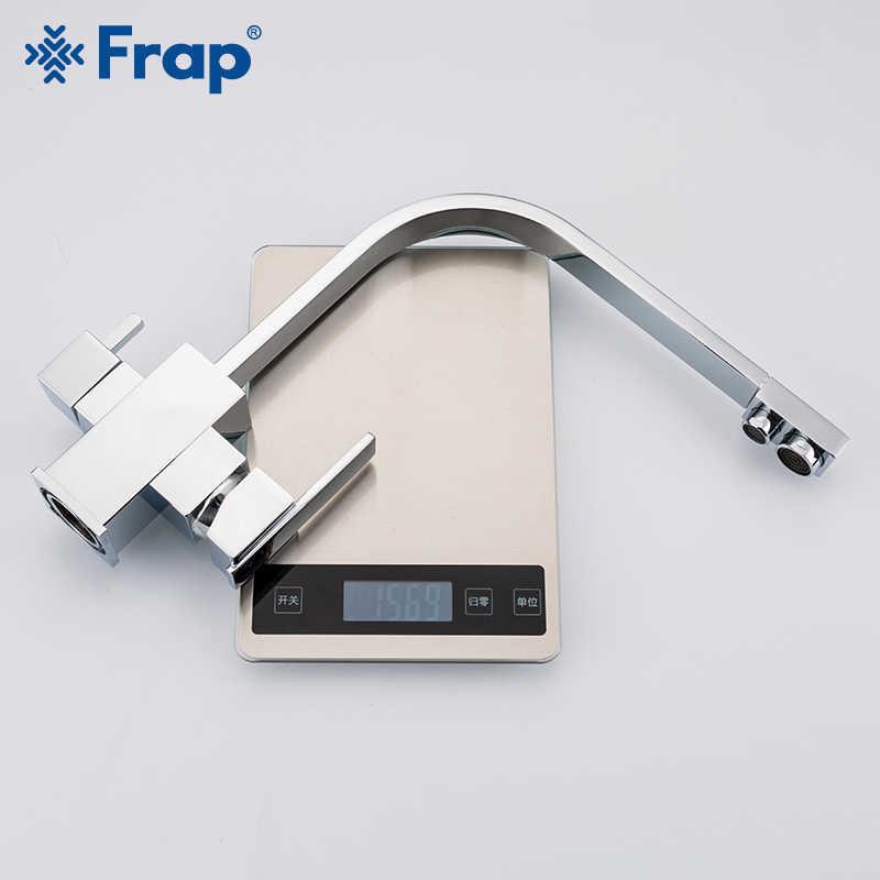 Frap chrome Кухня Раковина кран 360 градусов вращения с очистки воды особенности три способа горячей и холодной воды смеситель F4352