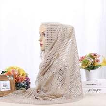 MIARA.L new ethnic style scarf sequined cross-border headscarf Muslim autumn shawl