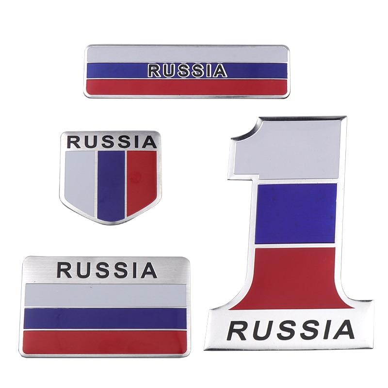 "4/"" Russian Flag Vinyl Decal Bumper Sticker Russia USSR Flag Car Laptop Sticker"
