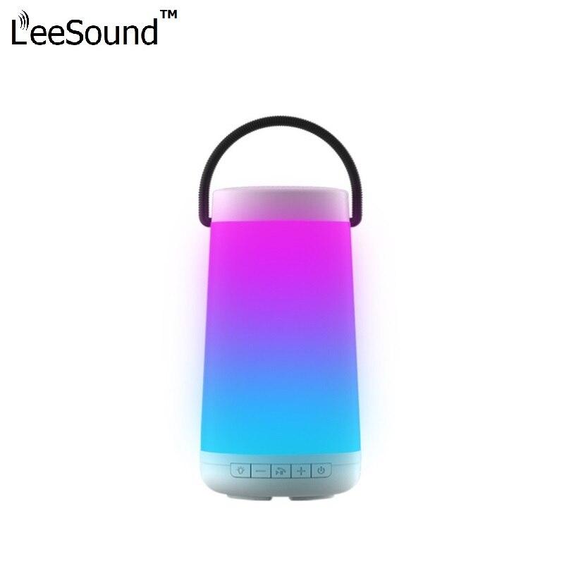 LeeSound Pulse 3D haut-parleur Bluetooth sans fil avec stéréo coloré lumière LED AUX TF carte Playbacks Microphone pour jbl iphone