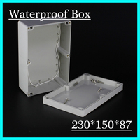 230 150 87mm Waterproof ABS Plastic Electronics Junction Project Enclosure Box Cover Screw