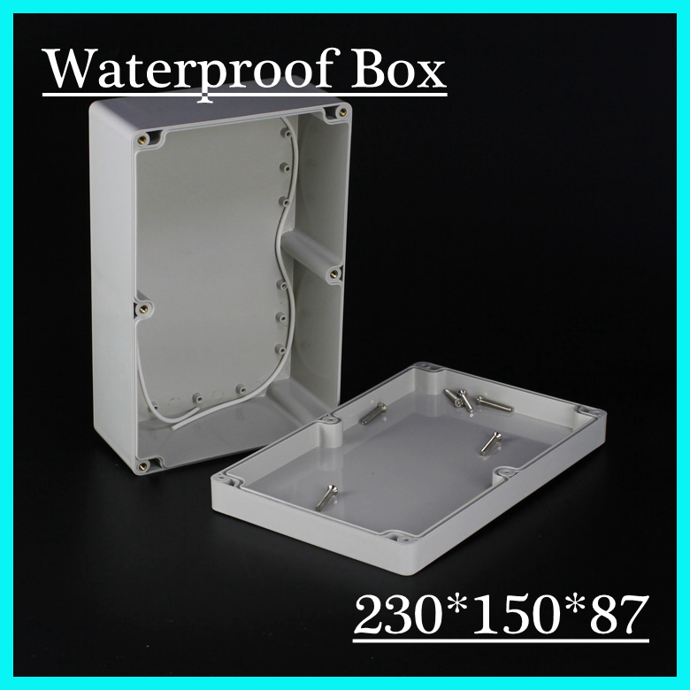 230*150*87mm Waterproof ABS Plastic Electronics Junction Project Enclosure Box Cover Screw 4 pcs abs plastic handheld plastic enclosure for electronic abs plastic project box ip55 junction box 275 204 97 mm