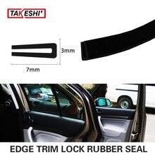 7x3mm U pillar type 197″ 500cm durable Black Edge Trim Rubber Seal Strip Car Truck Trailer Camper RV mouldings #50
