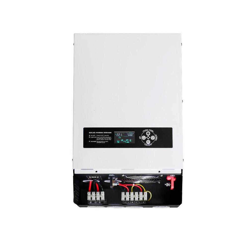 цена на 5000W 500Vdc Solar Inverter Input MPPT 48V 220V Off Grid Inverter 6KVA Hybrid Inverter Pure Sine Wave Inverter